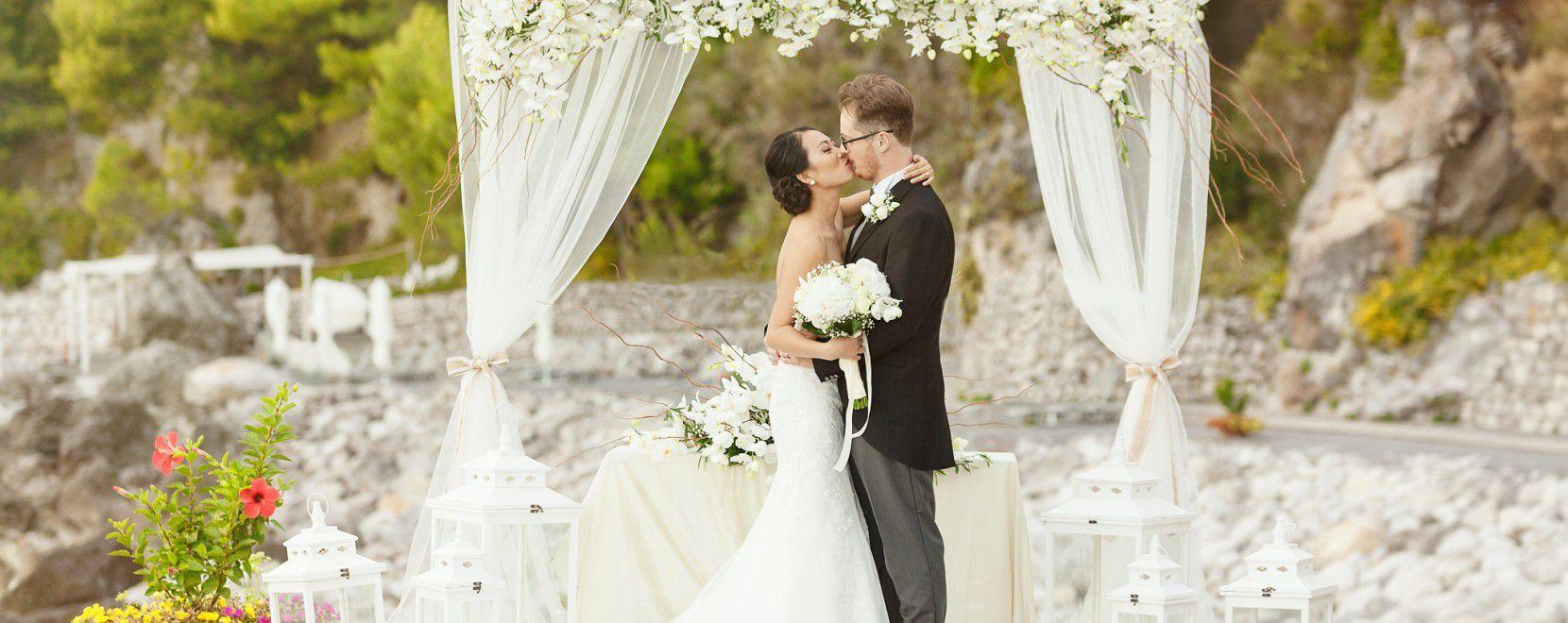 Coppia sposi allestimento matrimonio