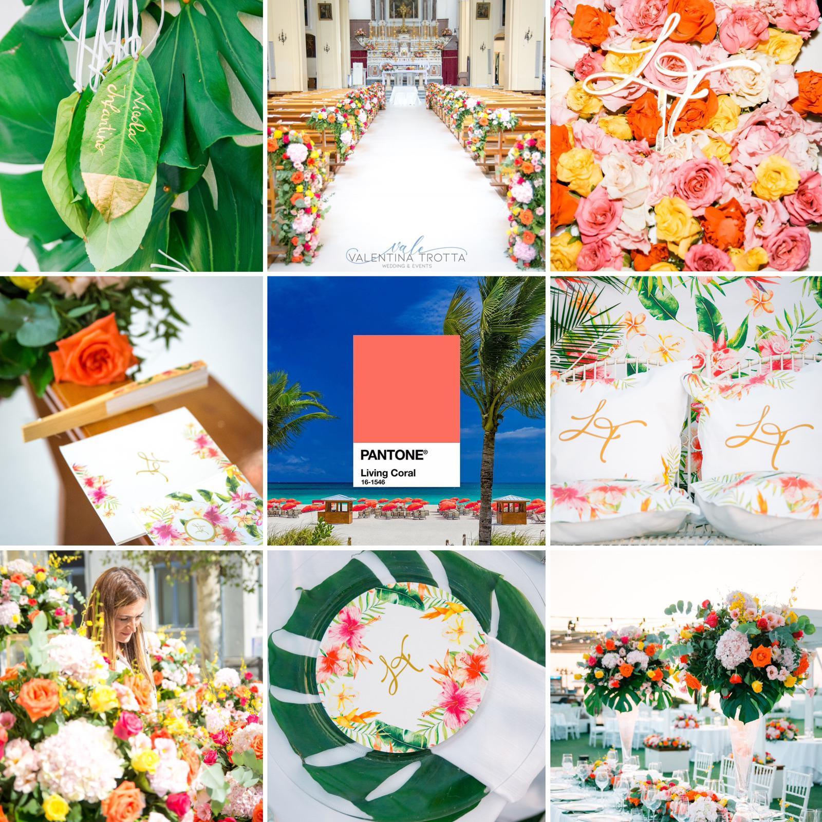 colore pantone corallo matrimoni