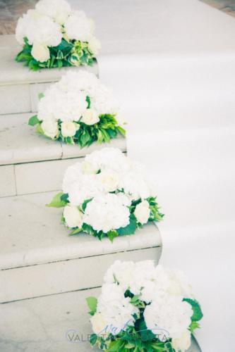 allestimento fiori chiesa ortensia bianca