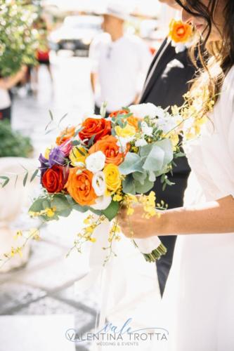 bouquet sposa colorful wedding