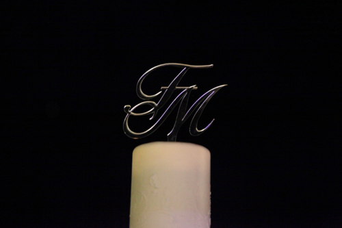 cake topper iniziali wedding total white