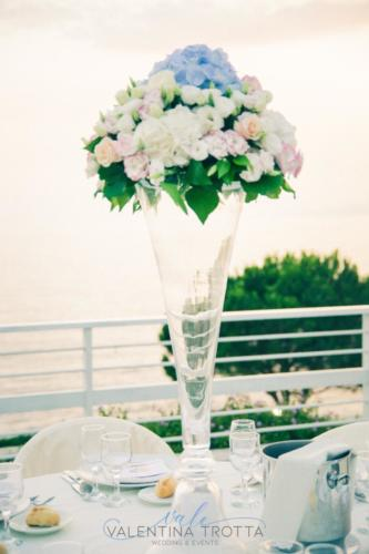 centrotavola matrimonio rosa celeste