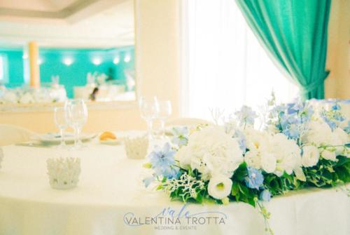 centrotavola tavolo sposi