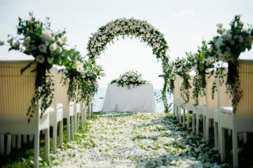 cerimonia civile stile natural bianco verde