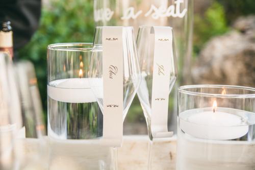 champagne tableau mariage idea