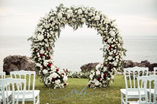 flowers arch wedding burgundy arco matrimonio