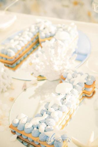 iniziali cake design tema mare