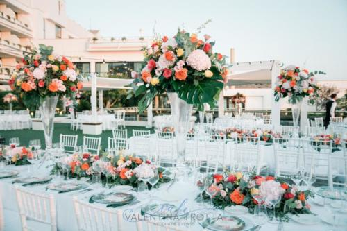 luxury wedding tropical fiori tavolo imperiale