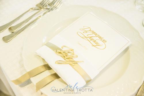 menu segnaposto oro