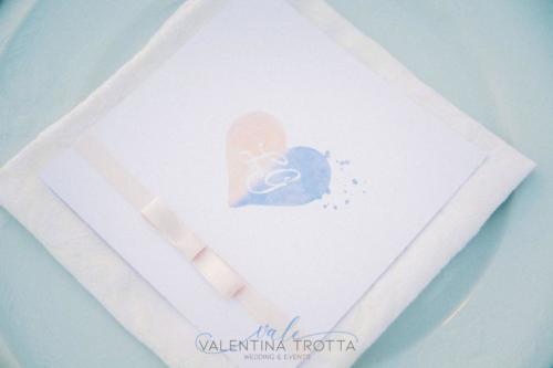 menu wedding rosa celeste