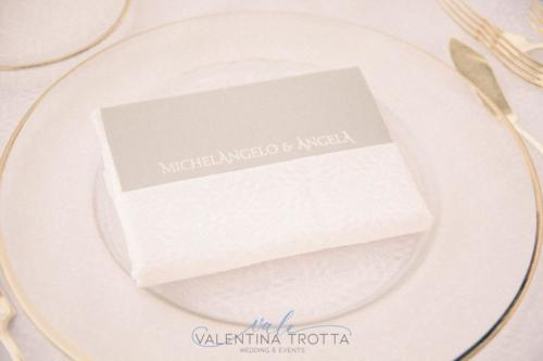menu wedding white grey