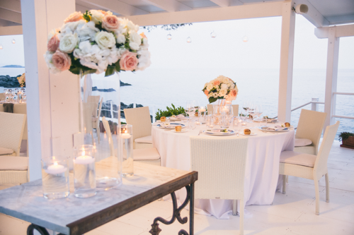 reception wedding dinner