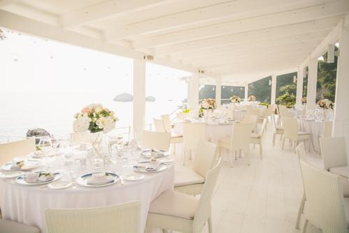 seaside reception dinner