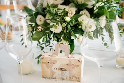 segnatavolo tema viaggio natural Wedding