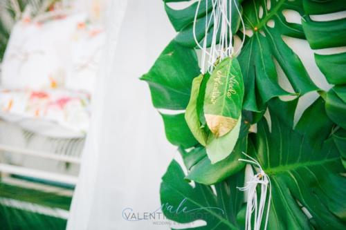 tableau de mariage luxury wedding tropical oro