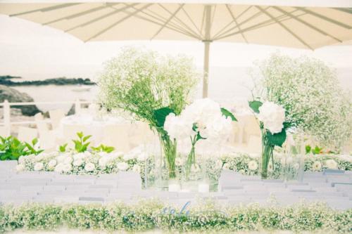 tableau de mariage wedding white grey