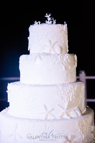 torta nuziale matrimonio tema mare