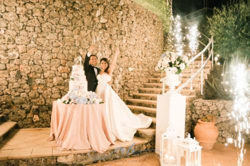 wedding cake rosa celeste